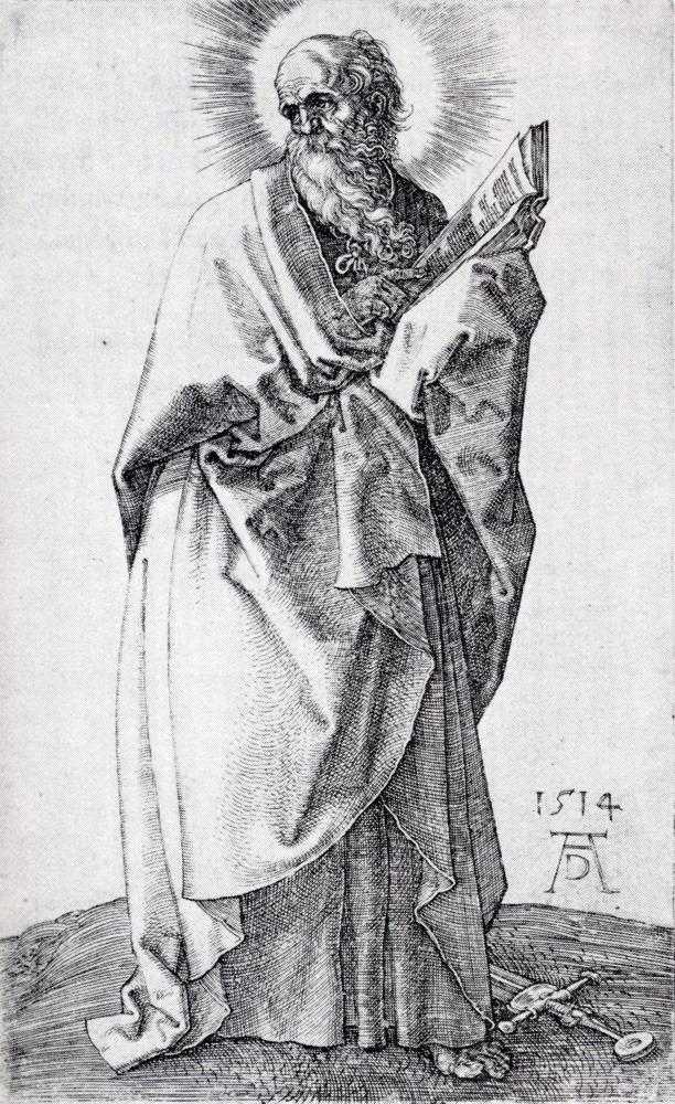 St. Paul (First State), 1514, Albrecht Durer   Medium: engraving   Allegory of Vanity