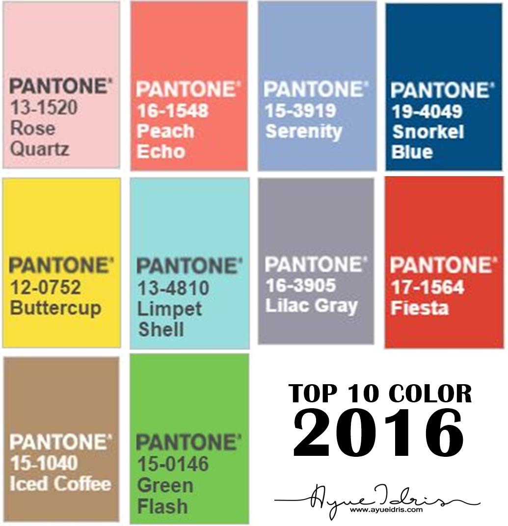 Tak Wedding Satu Warna Je Takpa Pantone Siap Senaraikan Lagi Color Apa Yang Sesuai Dengan Top 10 2016 Ni