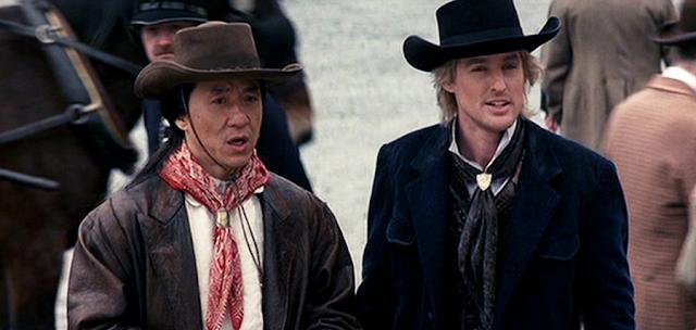 Jackie Chan și Owen Wilson în Shanghai Noon (2000)