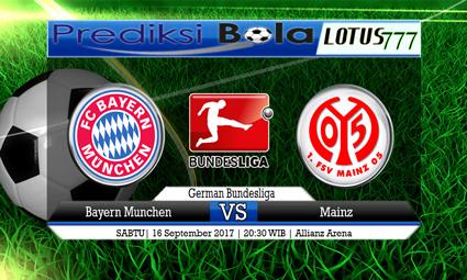 Prediksi Pertandingan antara Bayern Munchen vs Mainz Tanggal 16 September 2017