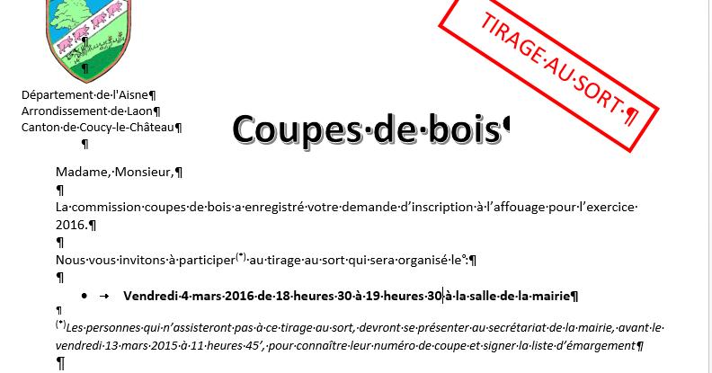 Barisis aux bois solidaires affouage tirage au sort - Tirage au sort coupe de france 2014 2015 ...