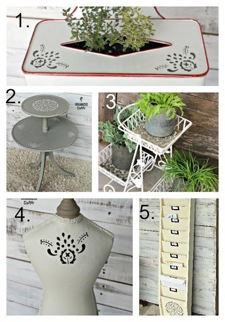 Hobby Lobby Mandala Stencil Projects organizedclutter.net