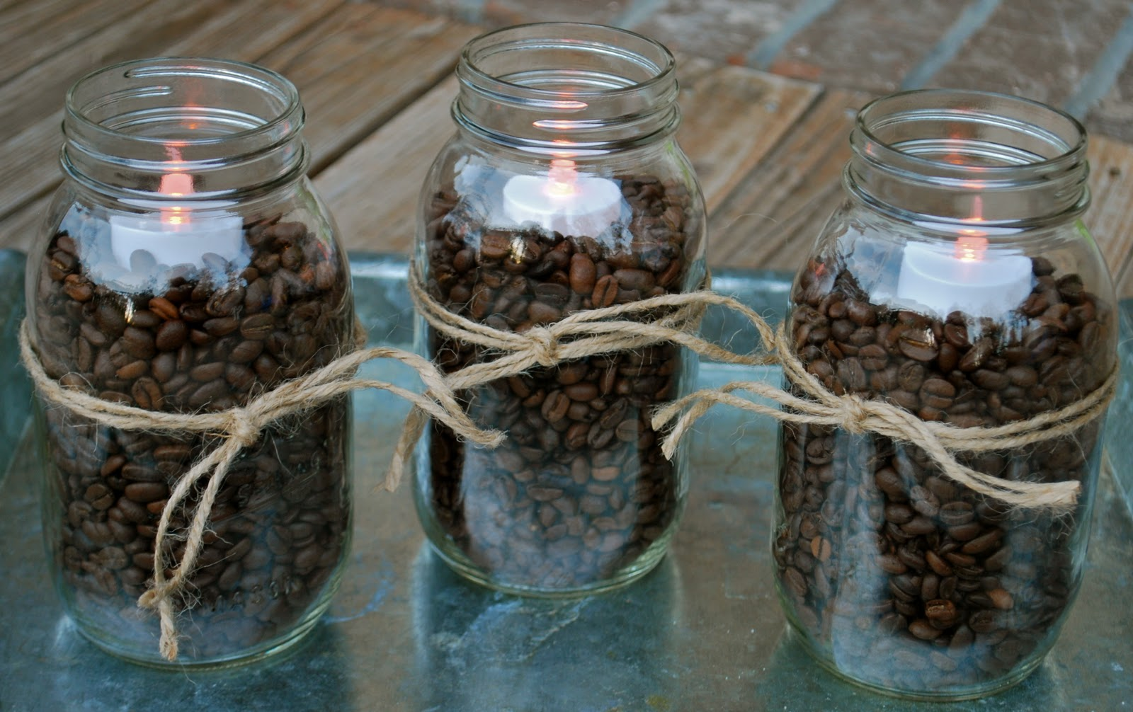 Fall DecoratingCoffee Beans & Mason Jars