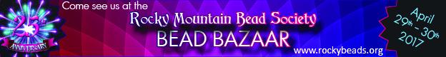 Rocky Mountain Bead Society Bead Bazaar banner.