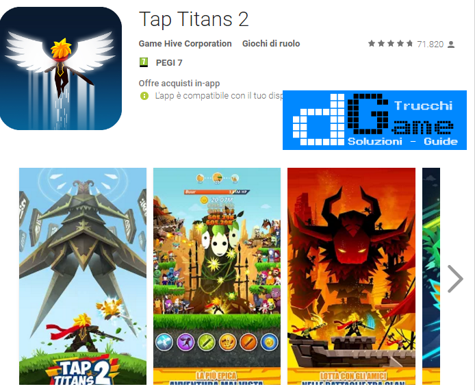 Soluzioni Tap Titans 2 livello 51-60 | Trucchi e Walkthrough level