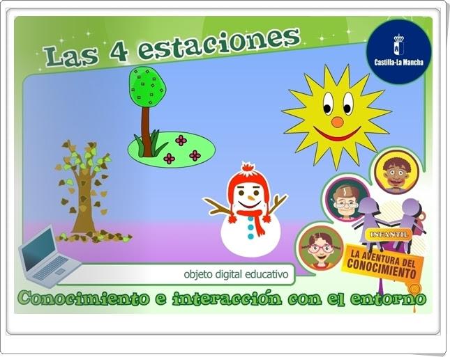 Las 4 estaciones Medio Físico de Educación Infantil