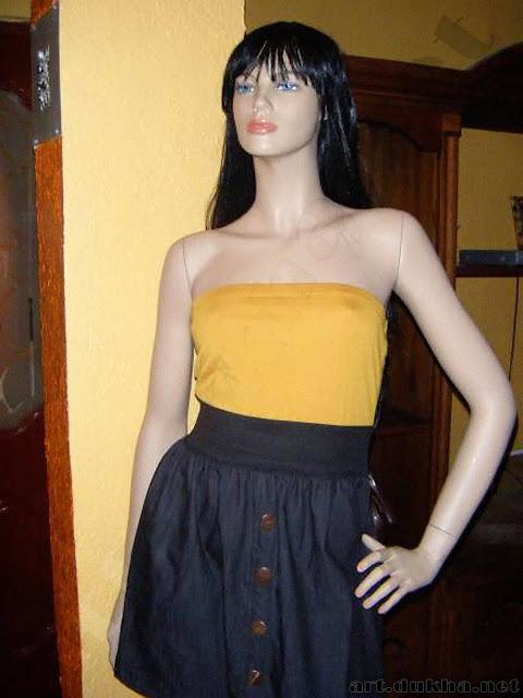Манекен в повседневном платье