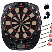 WINMAX Electronic Soft Tip Dartboard Set LCD Display with 6 Free Darts, 40 Tips, Power Adapter (Electronic Dart board)