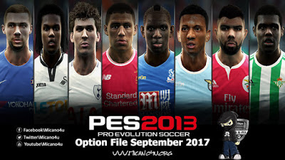 PES 2013 Next Season Patch 2017/2018 Option File