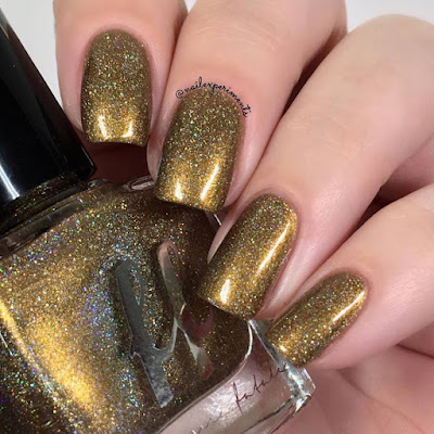 Femme Fatale Triple Tongued swatch from the Fire Lily collection