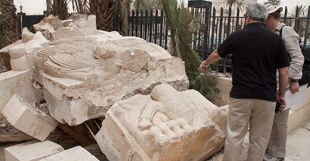 Restoration completed on Lion of Al-lāt statue from ancient city of Palmyra, damaged by ISIS