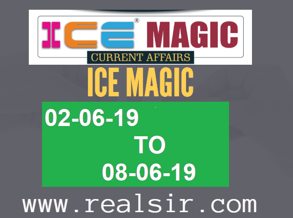 ICE MAGIC-23 [02-06-19 TO 08-06-19] Gujarati Current Affairs Download
