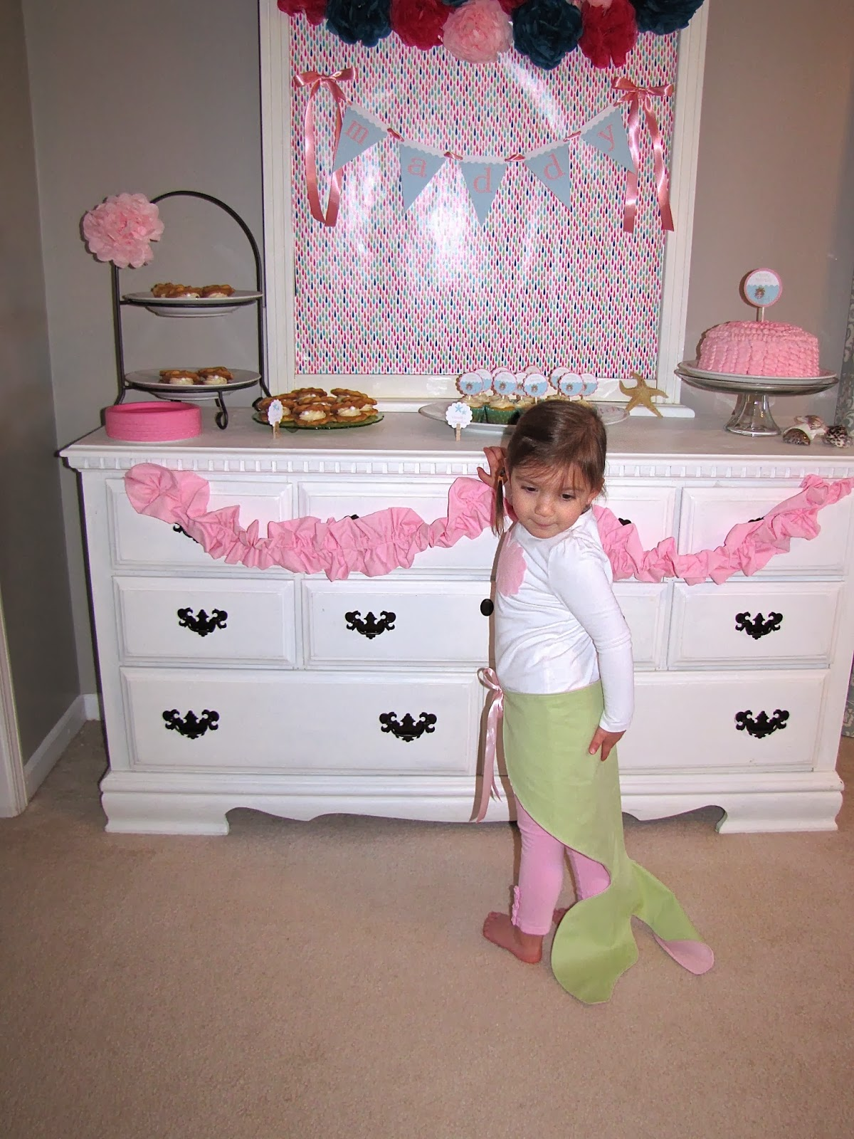 DIY reversible mermaid tail dress-up