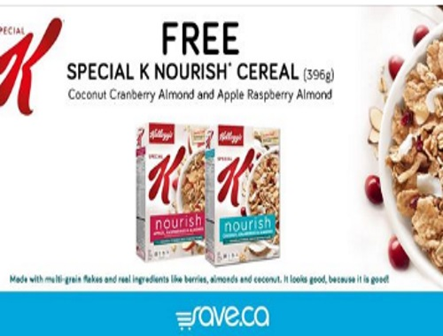 Free Special K Nourish Cereal Coupon