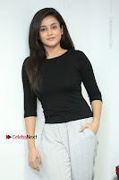 Telugu Actress Mishti Chakraborty Latest Pos in Black Top at Smile Pictures Production No 1 Movie Opening  0218.JPG