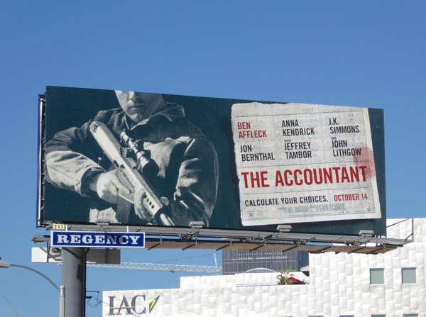 The Accountant movie billboard
