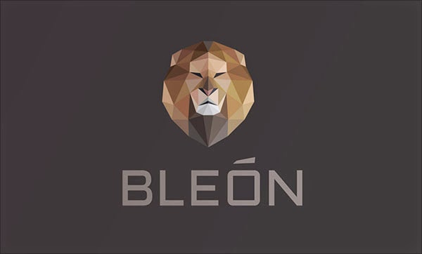 Kumpulan Desain Logo Low Poly - Bleon Low Polygon Logo