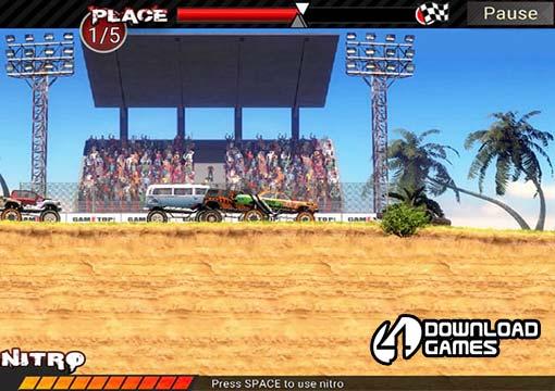 لعبة سباق سيارات دريفت وتفحيط Crazy Monster Trucks