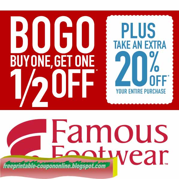 Famous Footwear has a great new coupon available. This coupon is for $10 off your purchase of $50 or more. Check out the coupon for more information and save. The coupon is only valid through Sunday. When it comes to saving on shoes we have at least three different offers that should work. Check each offer for a.