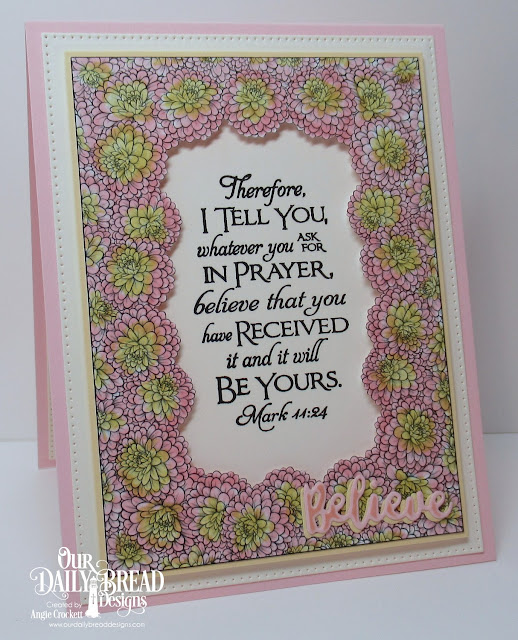 ODBD God's Beauty Coloring Pages, ODBD Custom Inspirational Words Dies, ODBD Custom Pierced Rectangles Dies, ODBD Scripture Collection 3, Card Designer Angie Crockett
