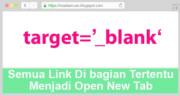 Semua Link Open New Tab