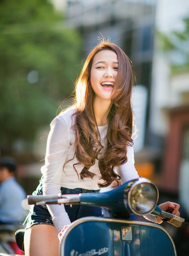 Ngất ngây trước nụ cười của hot girl Nhung Gumiho