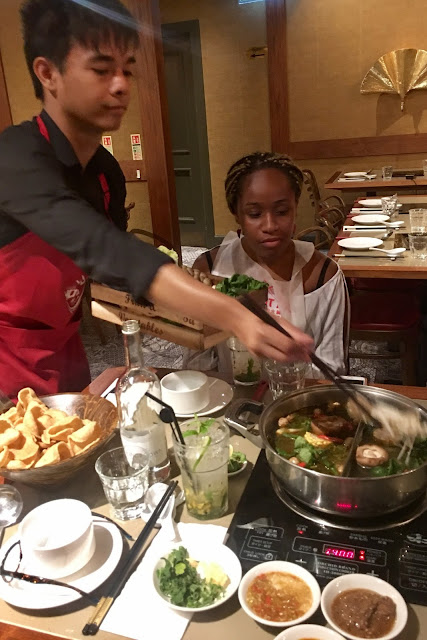table service for Asian hotpot at Hot Pot Chinatown London