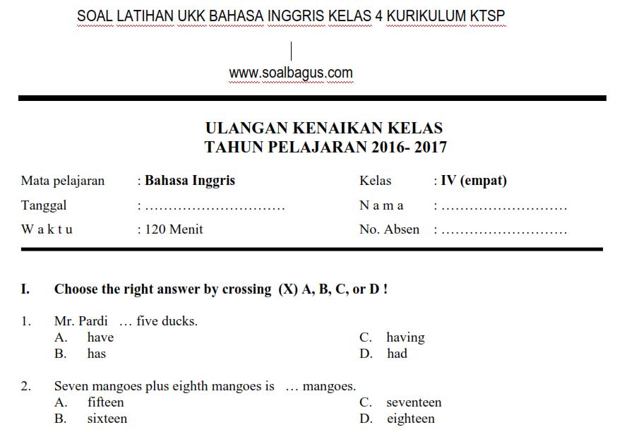 Soal Uas Bahasa Inggris Kelas Kurikulum 2013 Program Semester Kurikulum 2013 Rpp Silabus