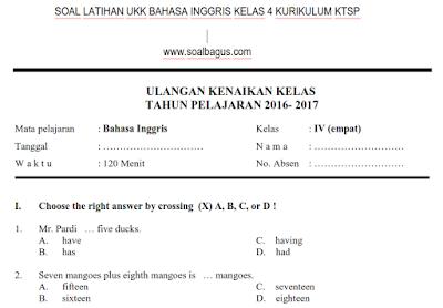 Download soal latihan ukk/ uas b inggris kelas 4 sms 2/ genap plus kunci jawabannya sesuai ktsp www.soalbagus.com