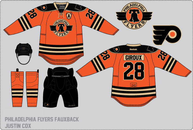 ... I really like this one because to me it is a perfect Flyers alternate  jersey. Vintage ... c9b0bf928350