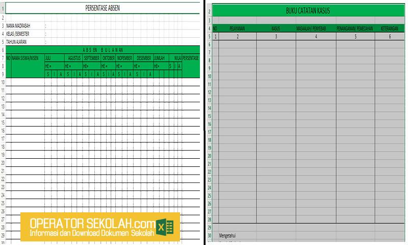 24 Berkas Administrasi Guru Dalam 1 Paket Aplikasi Excel