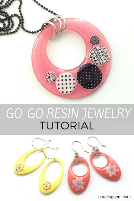 retro go go resin jewelry tutorial
