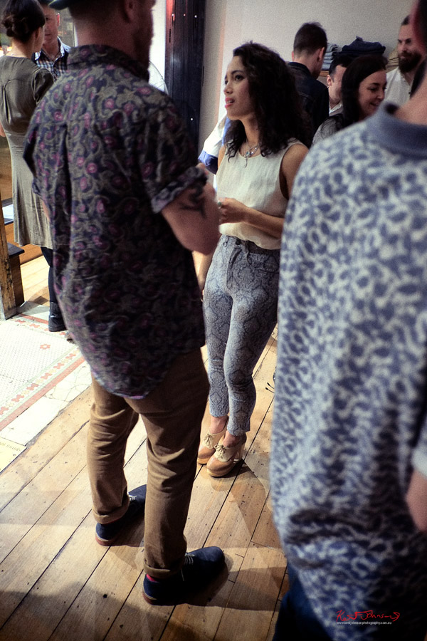 Crowd wearing patterns,  Neuw Denim - Service Party - Fujifilm X-Pro1