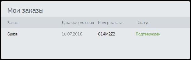 GlobalKasta order