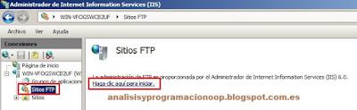 Habilitar un servidor FTP en Windows con IIS
