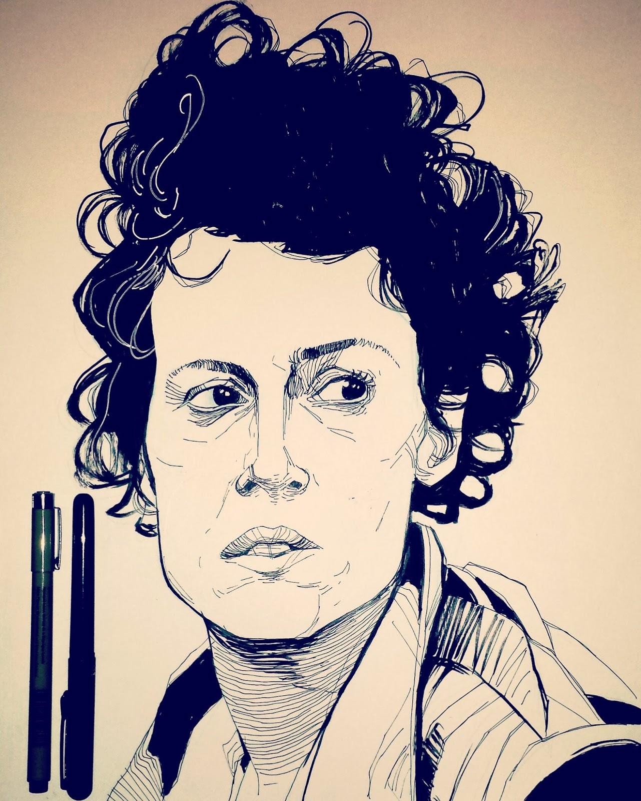 Ripley drawing Aliens