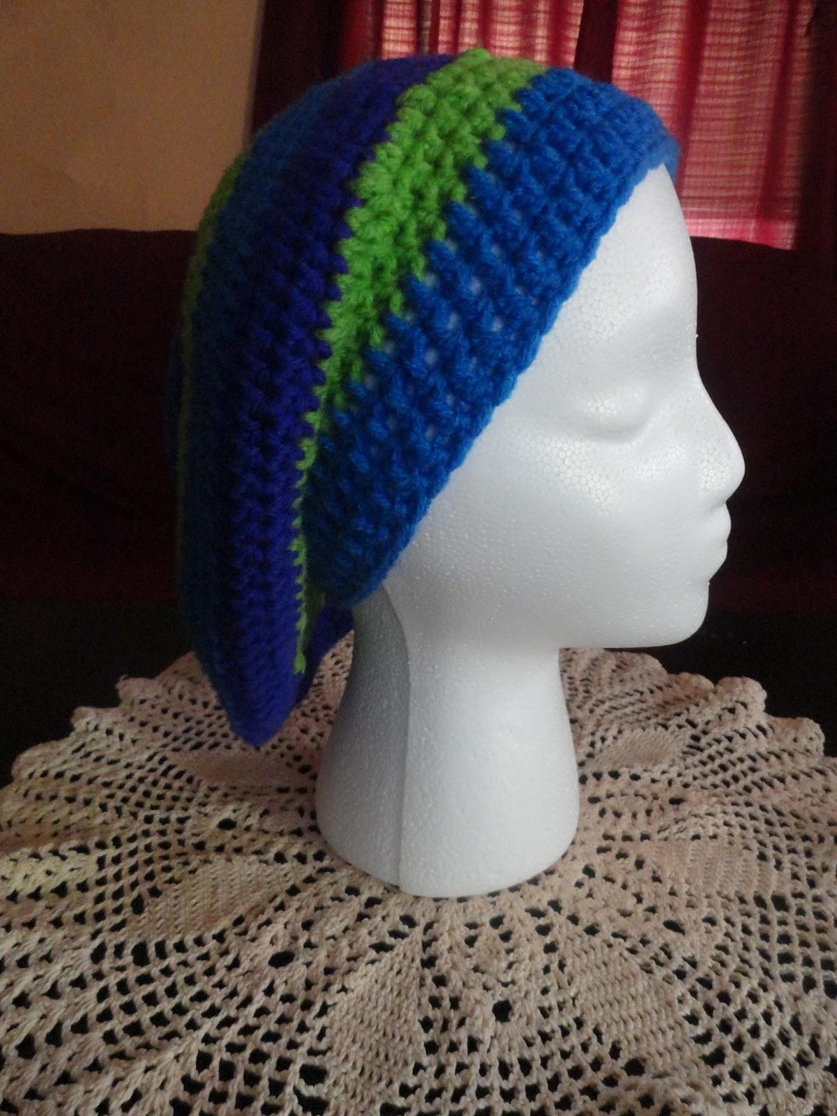 Crochet Crazy Mama: Striped Slouchy Hat Pattern