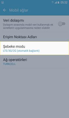 Android 4.5G Açma