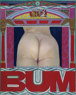Bum, painting by Pauline Boty (1966)