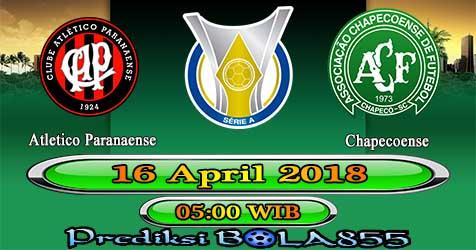 Prediksi Bola855 Atletico Paranaense vs Chapecoense 16 April 2018