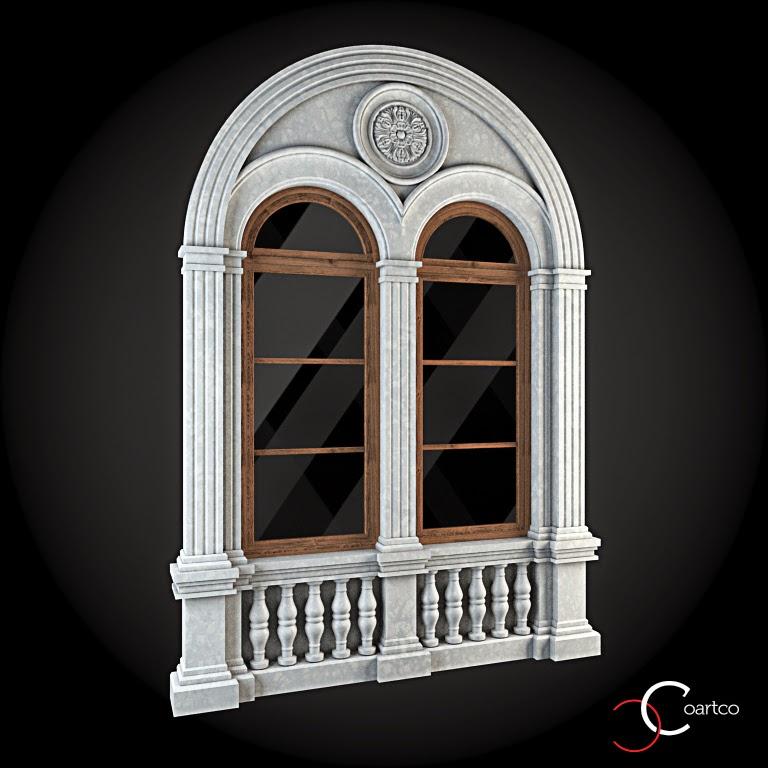 Ornamente Geamuri Exterior, Arcada fatade case cu profile decorative polistiren, profile fatada,  Model Cod: WIN-033