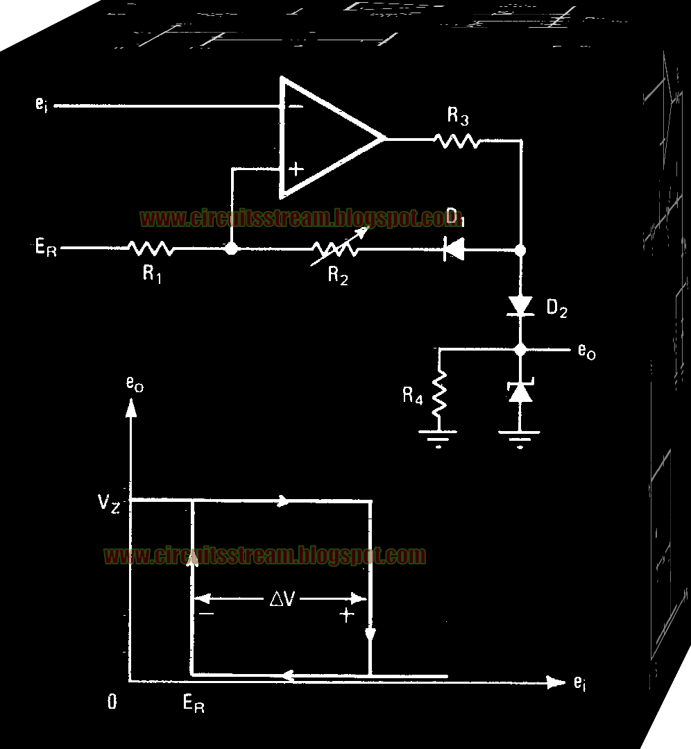 Comparator with Variable Hysteresis Circuit Diagram