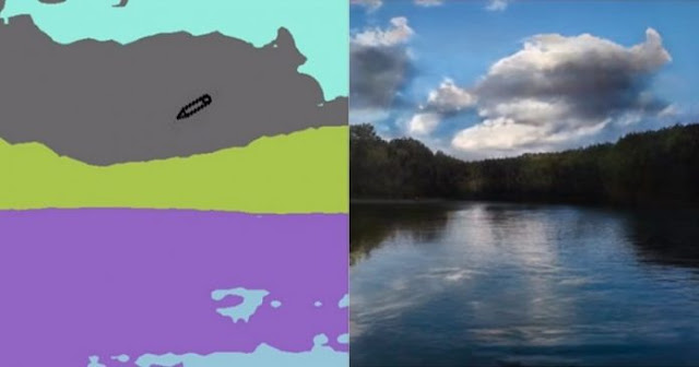 The new NVIDIA service will make beautiful landscapes even from children's drawings