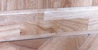 Len tường gỗ cao su - màu tự nhiên
