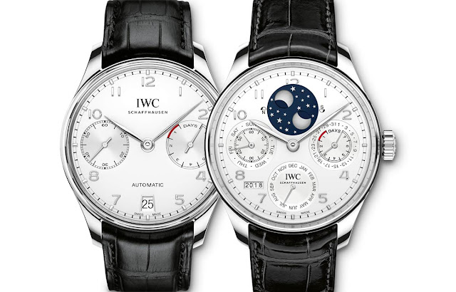 IWC Portugieser Automatic in steel and Portugieser Perpetual Calendar in platinum