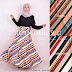 Rok Panjang Muslimah Striped Umbrella Skirt 081372507000