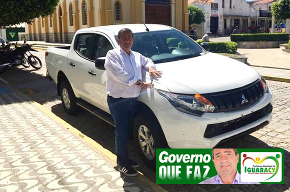 Governo de Iguaracy conquista mais um veículo para a Secretaria de Saúde do municipio. Desta vez, uma Mitsubishi L200 Zero KM.