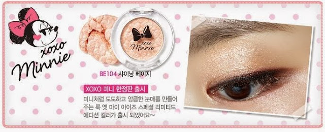 disney, etude minnie, xoxo minnie etude, jual etude murah, jual etude, eyeshadow etude, review etude