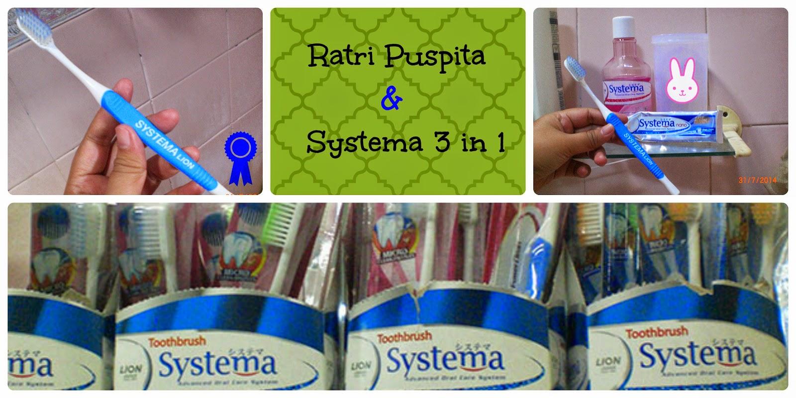 Lebaran 3 In 1 Systema Toothbrush Power Clean Regular Advanced Oral Care System Biru Milikku Atas Sikat Gigi Yang Tersedia Di Supermarket Bawah Foto Dokumen Pribadi