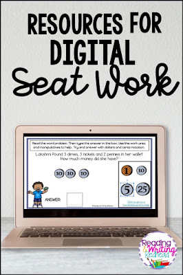computer with digital seat work